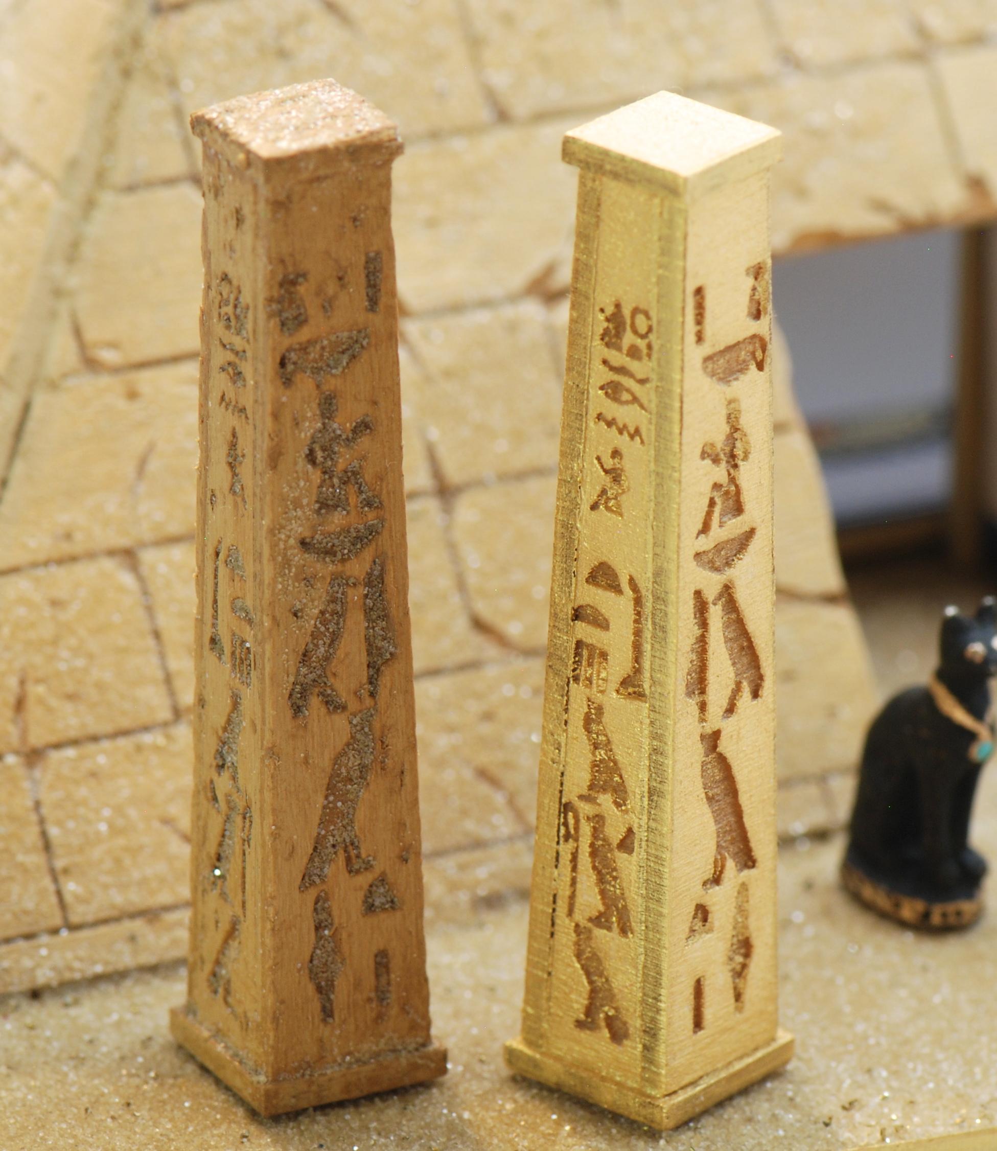 Wallpaper Cute 3d 1 48 Set Of 2 Egyptian Pillars Stewart Dollhouse Creations