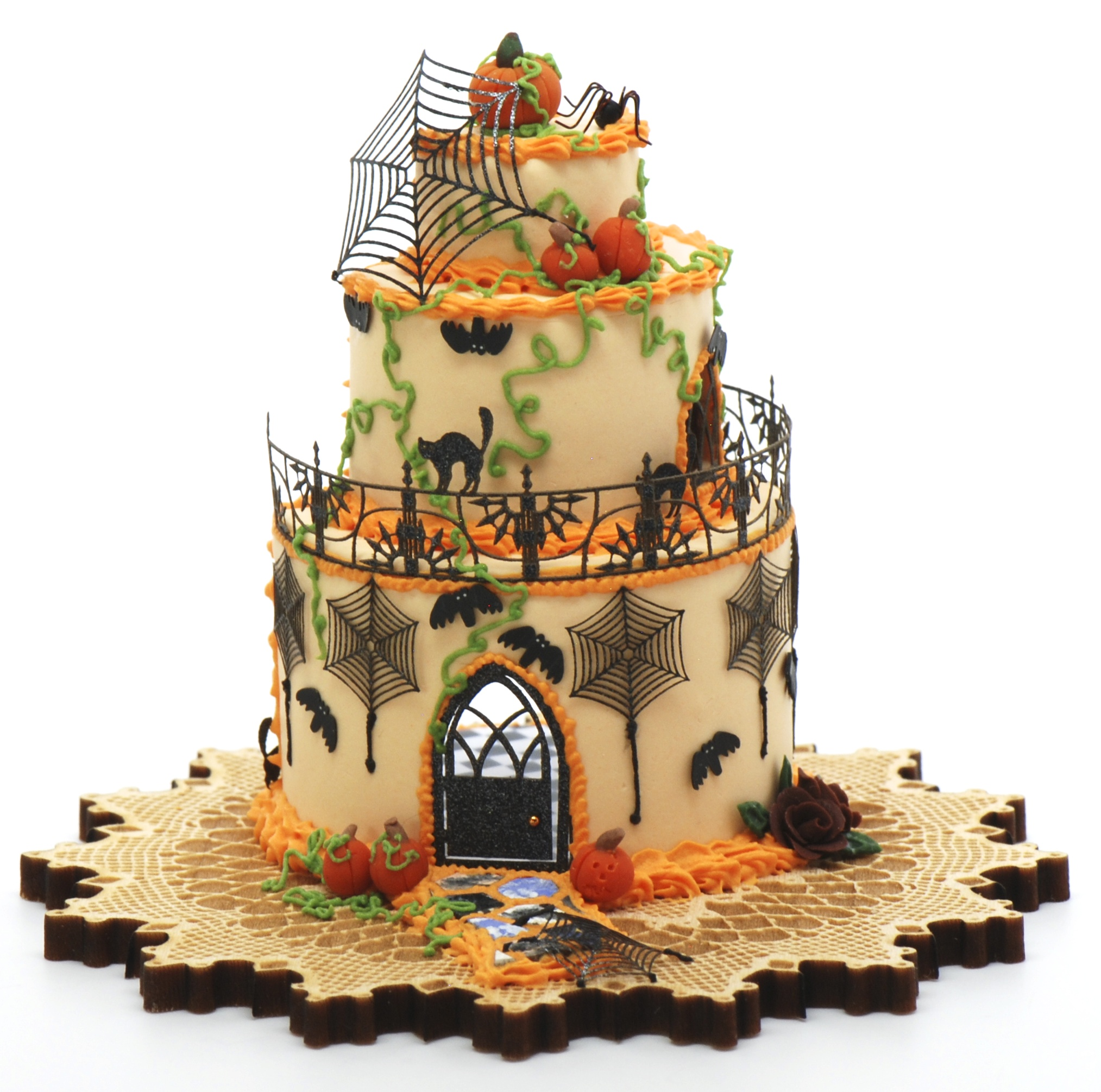 Black Home Wallpaper Halloween Cake House Kit Now Comes With Wallpaper