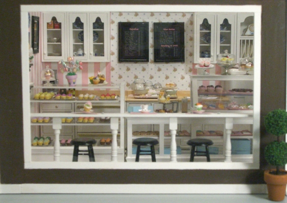 3d Picture Wallpaper Cupcake Shop 4 Stewart Dollhouse Creations