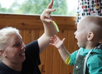 Anya and Kiril, age 2