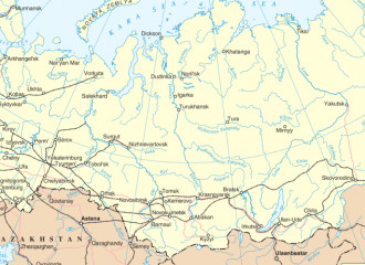 Russia Georgia map