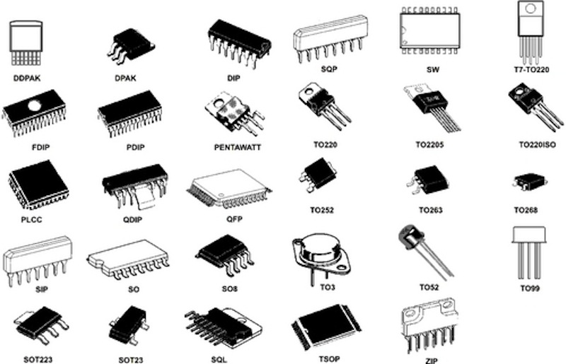 semiconductors integrated circuits chips voltage regulator ics