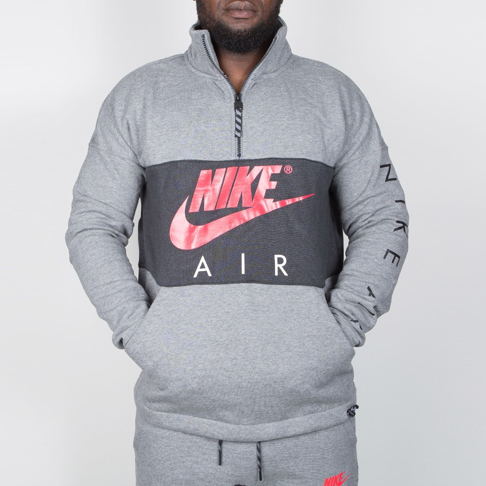 Nike Hoodie Carbon Heather Nike Air Top Fleece Carbon Heather Anthracite Siren