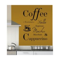 Coffee Quote Vinyl Wall Art Sticker Decal Mural, Kitchen ...