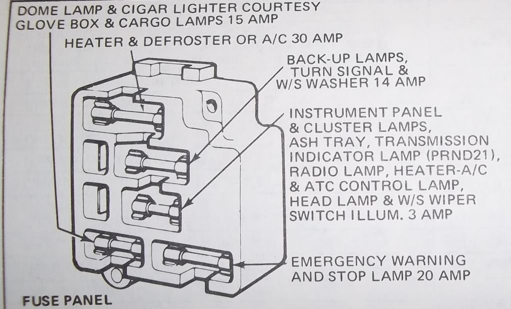 1973 f250 fuse box diagram