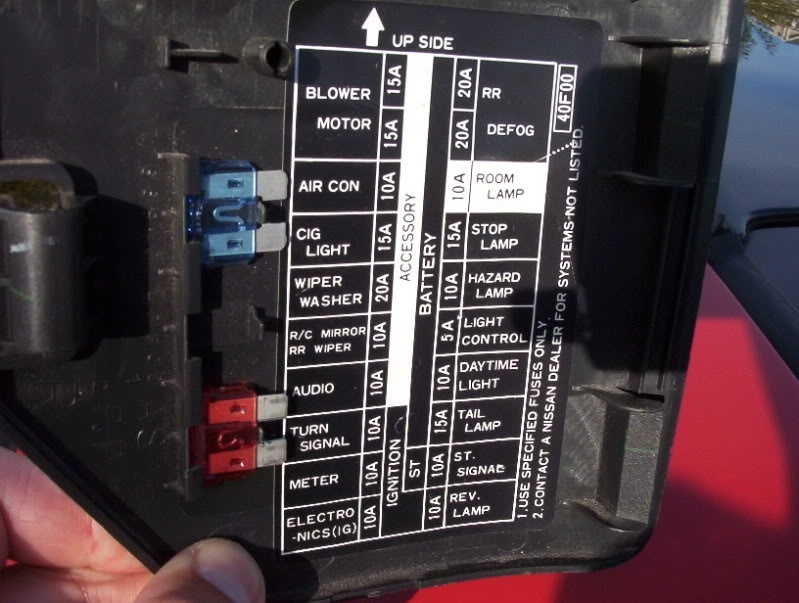 1995    Nissan       240sx    Interior    Fuse       Box       Diagram      Brokeasshome
