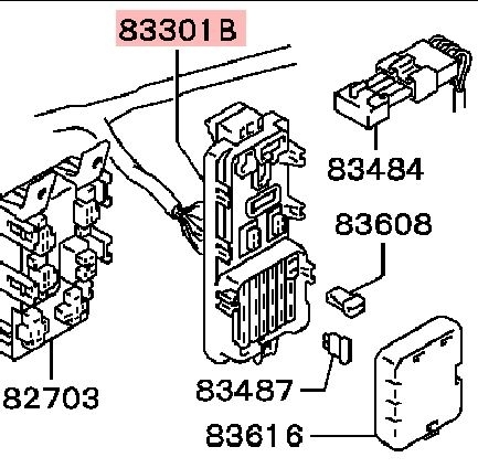 mitsubishi diamante fuse diagram