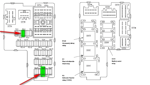 1997 mountaineer fuse box diagram