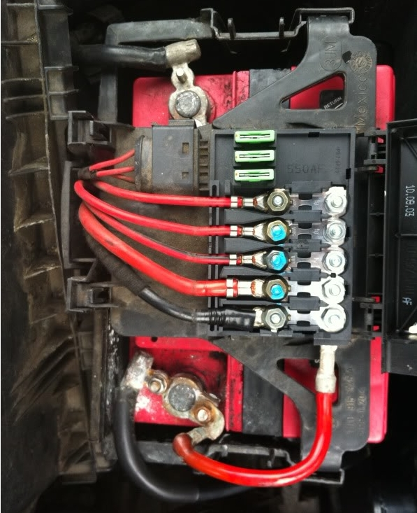 2009 vw beetle fuse box