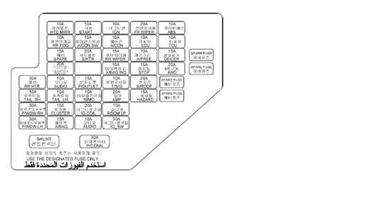 2007 hyundai accent fuse box diagram