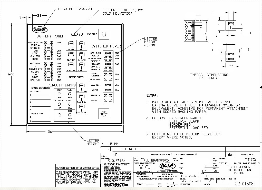 peterbilt wiring diagram pdf catalogue of schemas Peterbilt 387 Fuse Panel Diagram peterbilt fuse boxes & panels 386