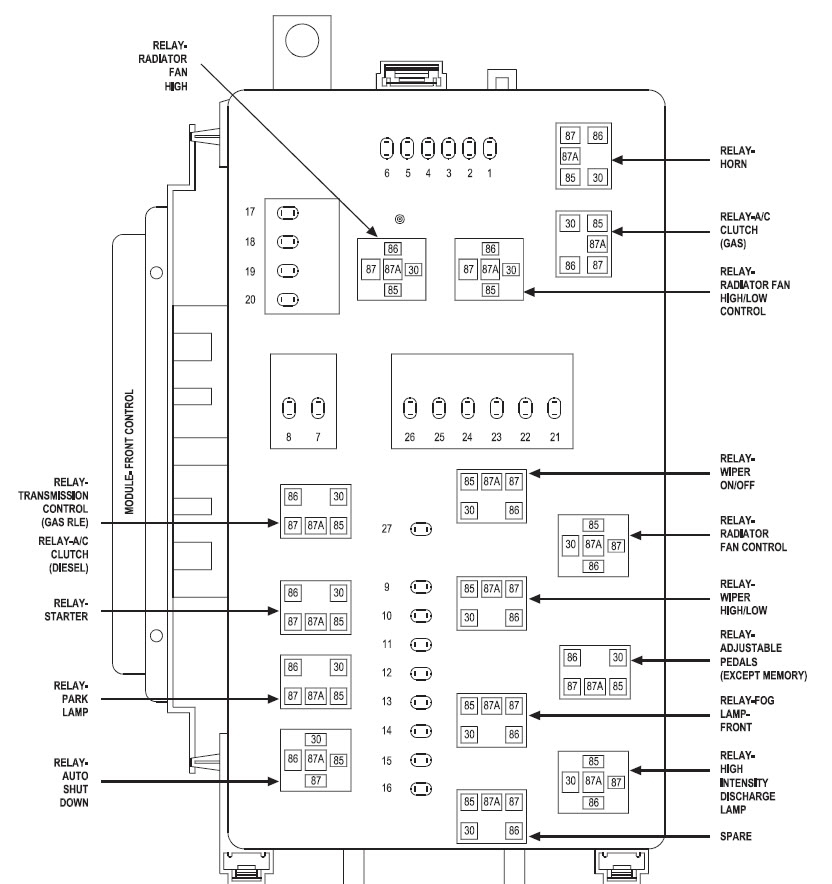 06 charger fuse diagram