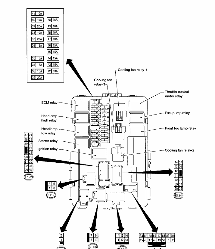2006 nissan altima interior fuse box diagram
