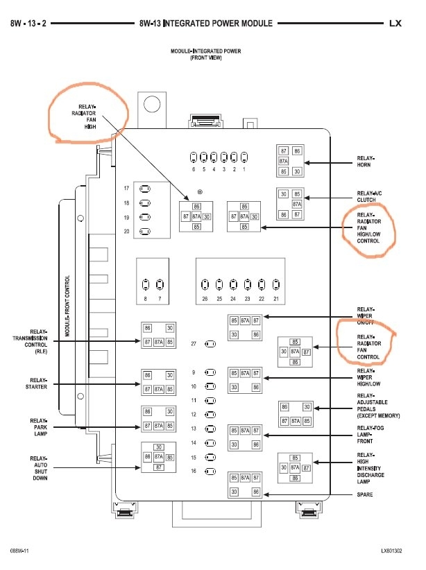 2004 chrysler town and country fuse box diagram