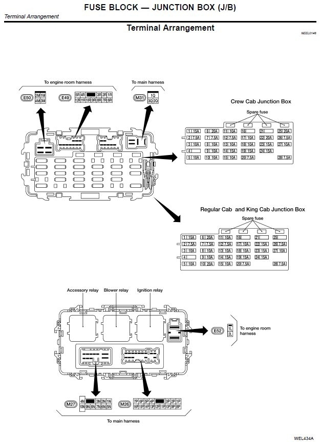 2012 nissan frontier fuse box diagram
