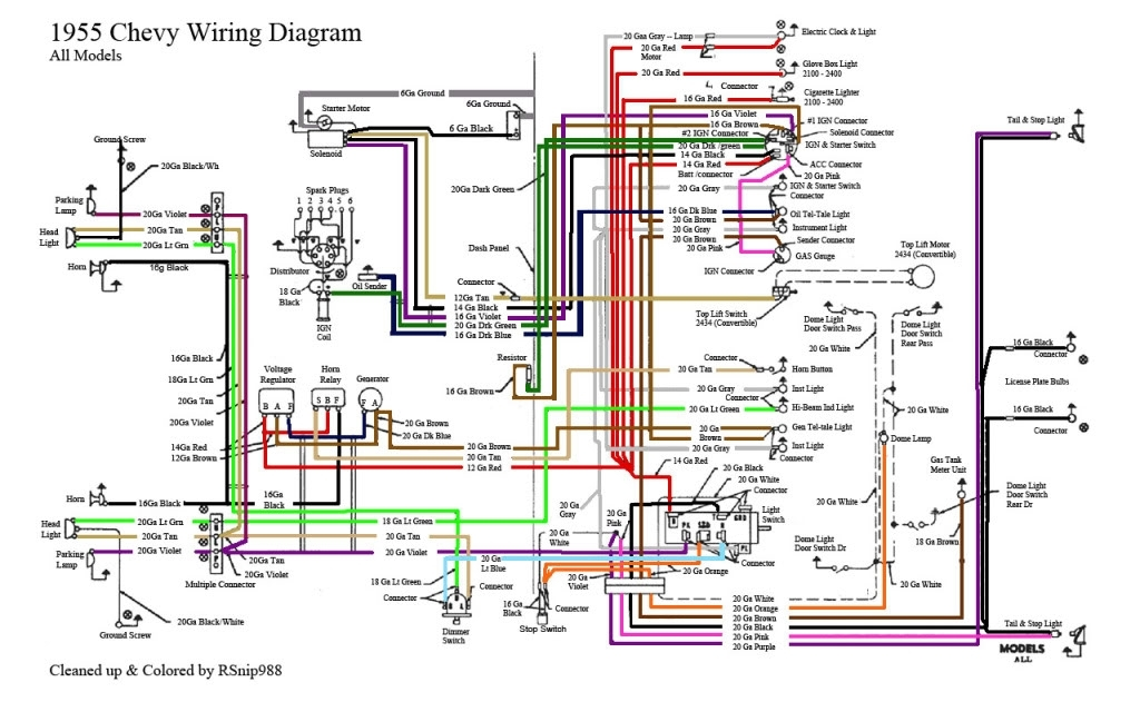 57 chevy wiring diagram for horn