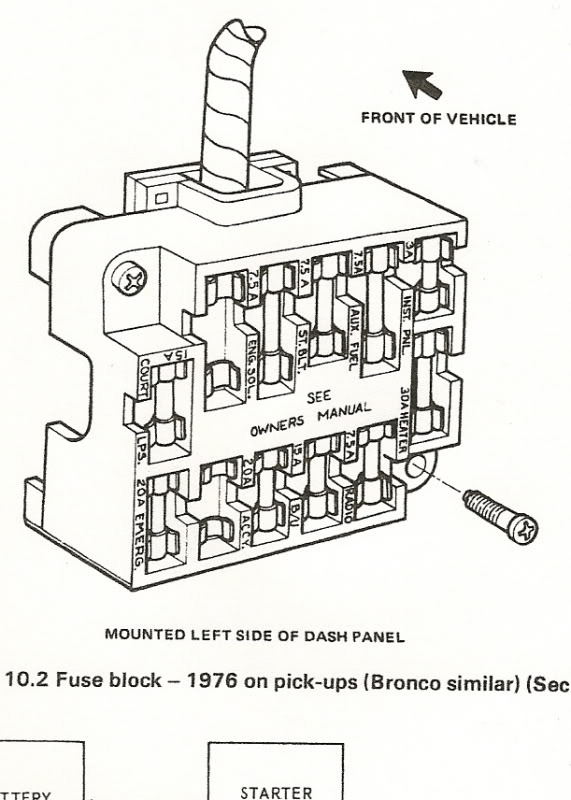 1978 ford fuse box diagram