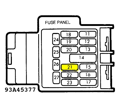 1995 mazda fuse box diagram