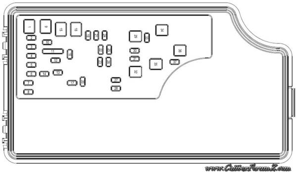 dodge caliber 2007 fuse box diagram