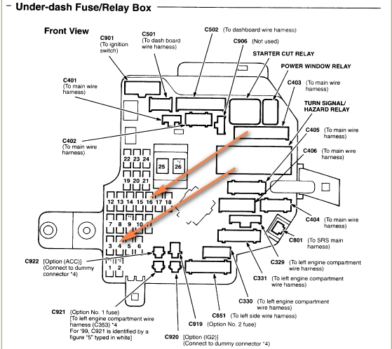 2000 acura rl fuse box diagram