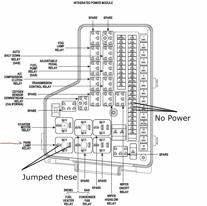2002 dodge ram 3500 diesel fuse box diagram