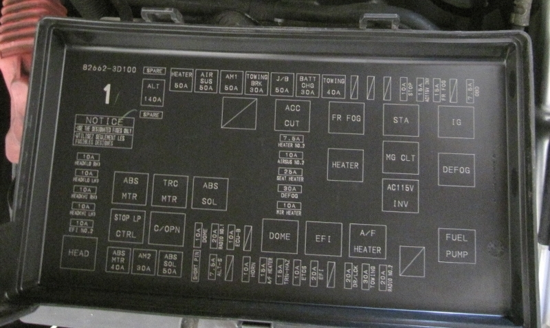 2004 4runner fuse box diagram