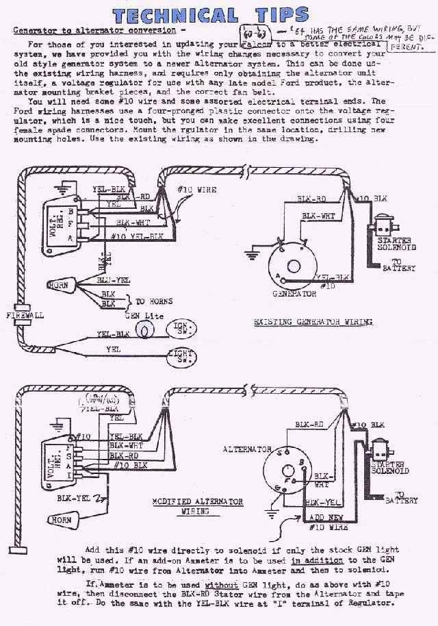 1962 ford falcon generator wiring diagram