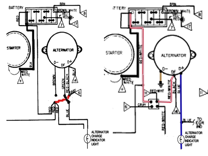 volkswagen alternator wiring diagram