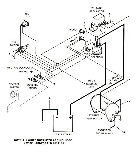 ezgo wiring harness diagram