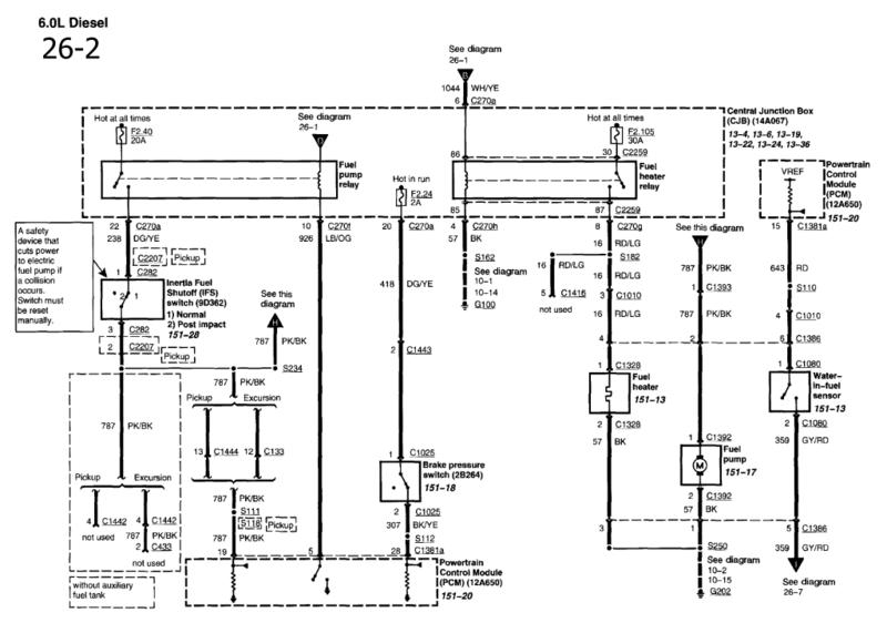 ford fuel pump diagram f350 gas
