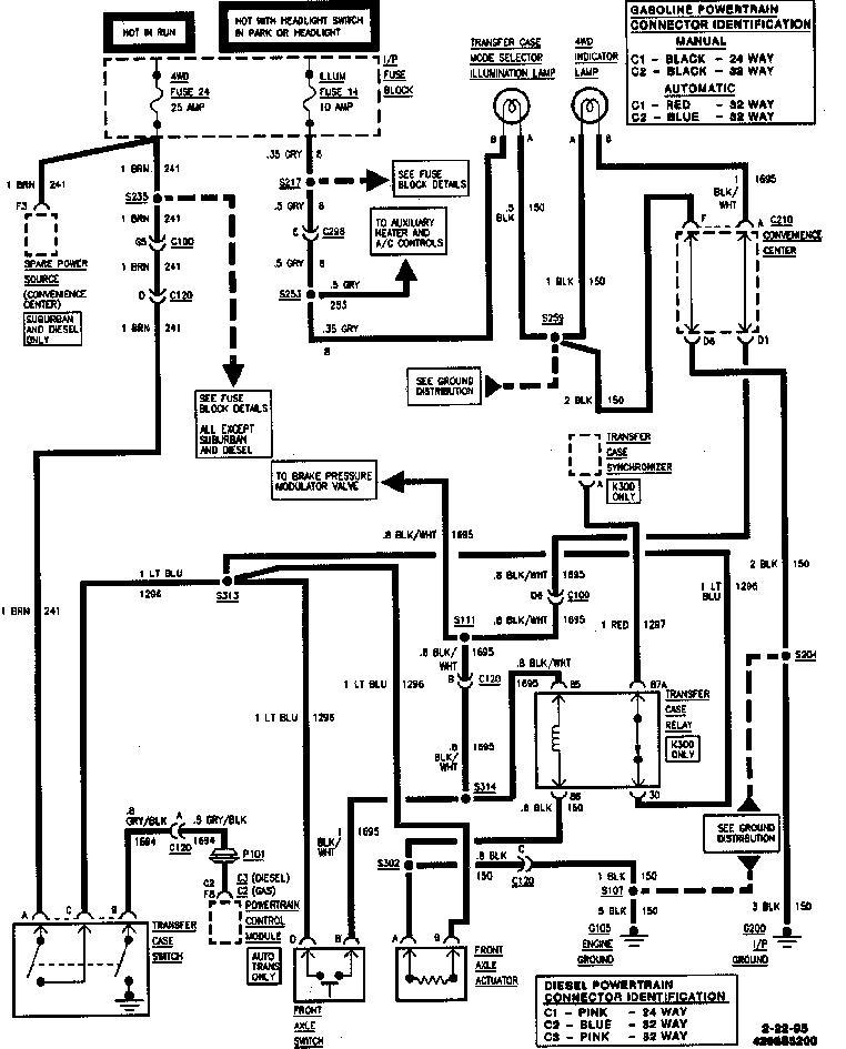 2005 chevy silverado 4wd wiring diagram