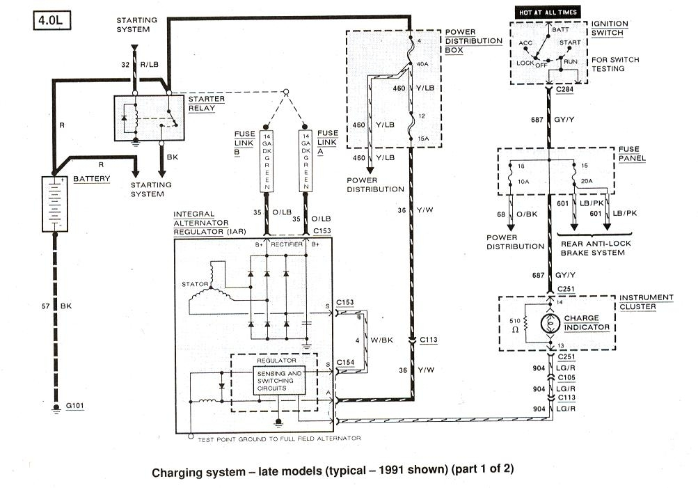 91 ford f250 radio wiring diagram