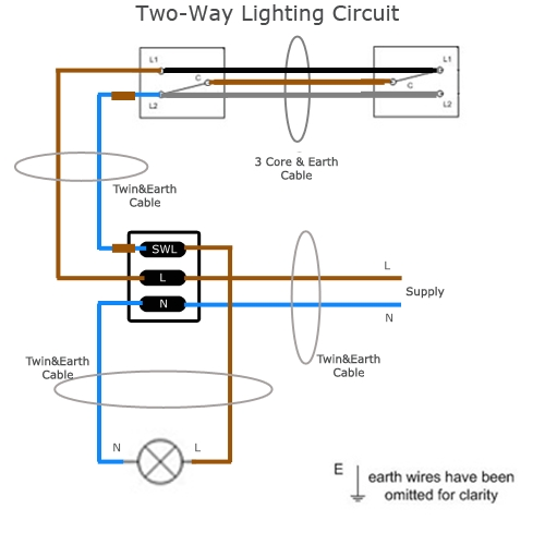 3 way switch wiring diagram multiple circuits