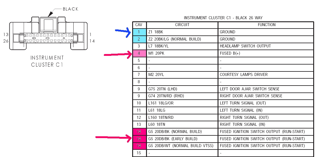 2003 pt cruiser stereo wiring diagram