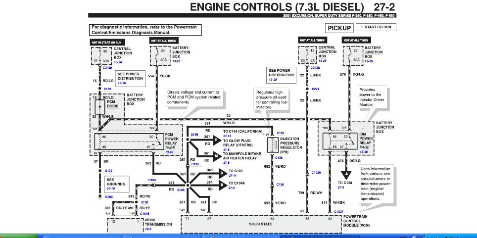 2003 ford f 350 fuse box diagram
