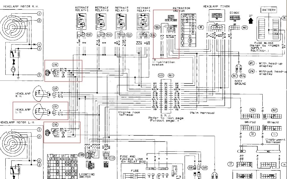 2005 nissan altima headlight wiring diagram