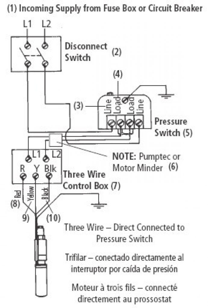 well pump capacitor wiring