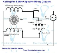 Electric Motor Wiring Diagram Capacitor   Fuse Box And ...