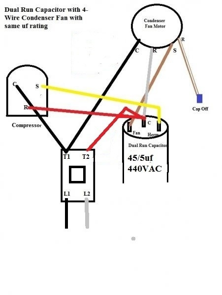 hvac fan motor wiring diagram electric