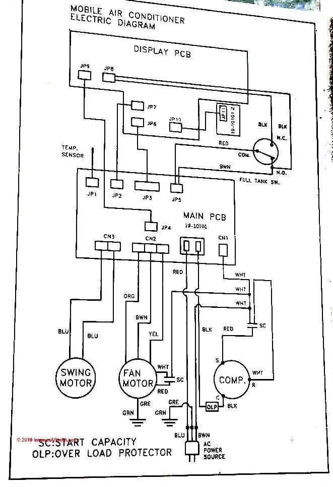 mitsubishi air conditioner wiring diagram