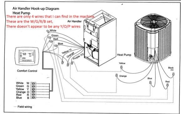 heat pump thermostat wiring ac and heater