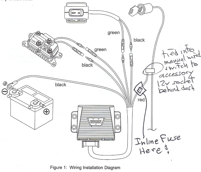 warn wireless remote wiring diagram