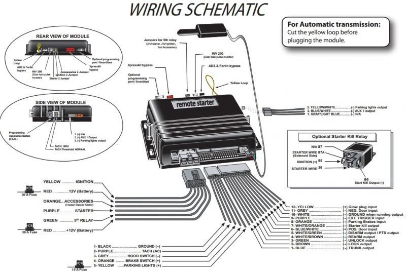 car remote starter wiring diagrams