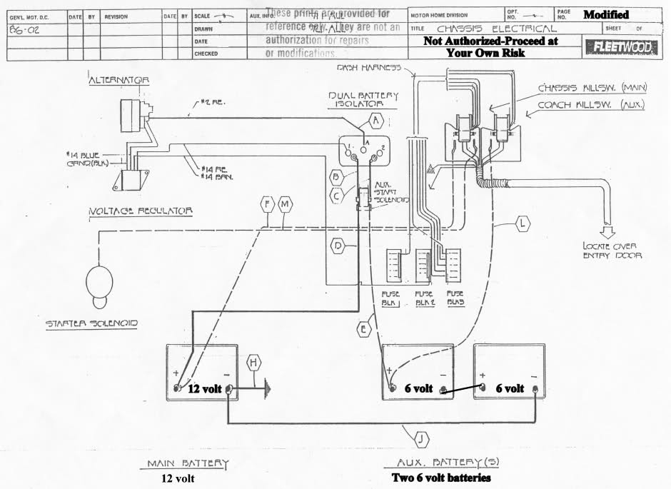camper trailer electrical diagram