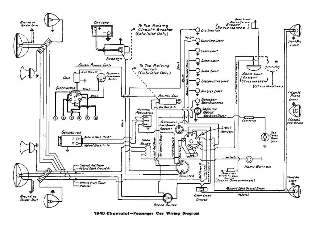 electric car circuit diagram