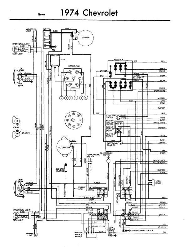 1971 chevy nova wiring diagram reprint