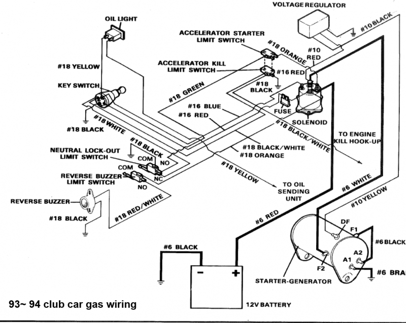 club car solenoid starter diagram
