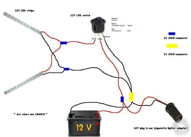 12 volt led wiring diagram