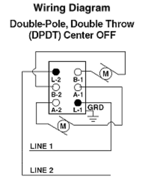 2 way switch wiring diagram double pole