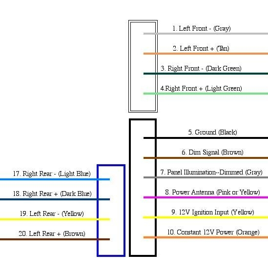 wiring schematic for base model stereo